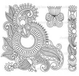 Galerry henna flower coloring pages