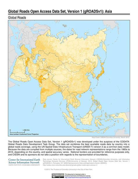 global maps maps 187 global roads open access data set groads v1 sedac