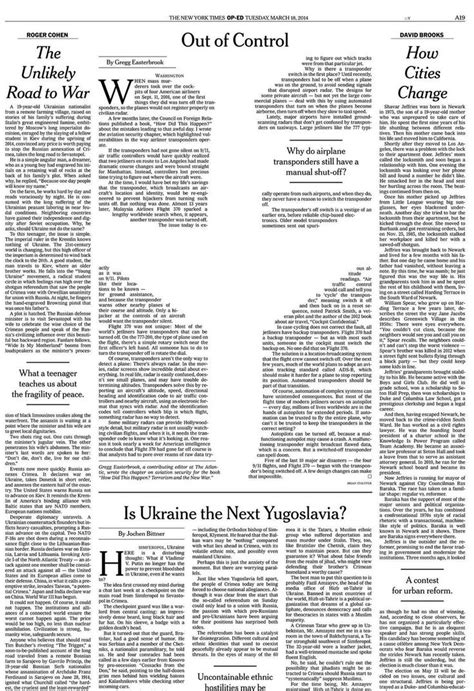 New York Times Op Ed Piece On The Missing Malaysian New York Times Newspaper Template Best Business Template
