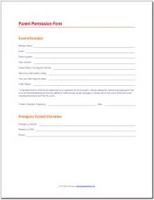 permission form template parent permission form 171 best attendance