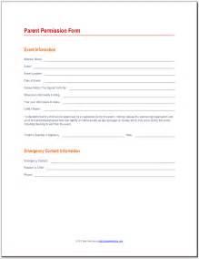 student permission form template parent permission form 171 best attendance