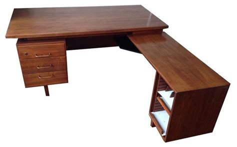 mid century modern l shaped desk l shaped mid century desk 1 000 est retail 300 on