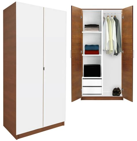 Wardrobe Closet White - alta wardrobe closet half and half contempo space