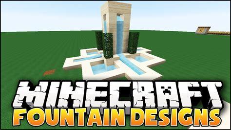 Minecraft fountain designs amp ideas youtube