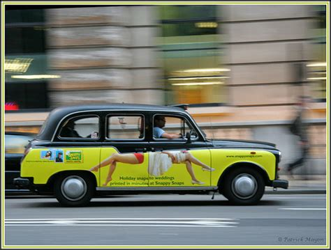 cabbie tries to advantage of a lone passenger social black cab with funny advert flickr photo sharing
