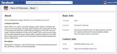 facebook business page about section how to set up a facebook page for your business or blog