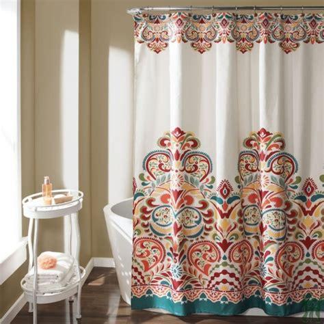 Lush Decor by Lush Decor Clara Shower Curtain Turquoise Tangerine