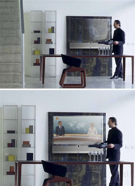 transparent tv sleek clean see through screen design