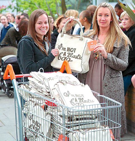 How To Get Anya Hindmarchs I Am Not A Plastic Bag Tote by Handbags At Or How Thousands Started Queueing At 2am