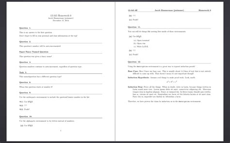 a latex homework template bits bytes and words