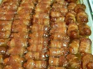 lil smokies bacon wrapped tried and true recipes pinterest