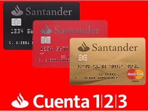 tarjetas banco santander cuenta 123 banco santander 14 64 mens de int netos por