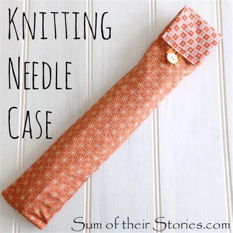 knitting pattern knitting needle case sum of their stories knitting needle case