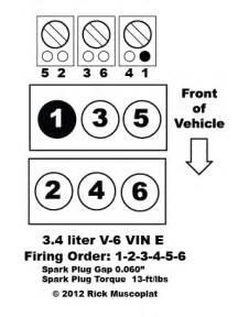 3 4 v 6 vin e firing order ricks free auto repair advice
