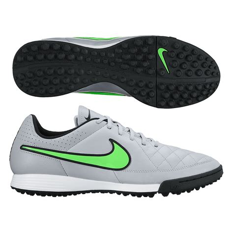 touch football shoes nike tiempo genio soccer turf shoes wolf grey black green