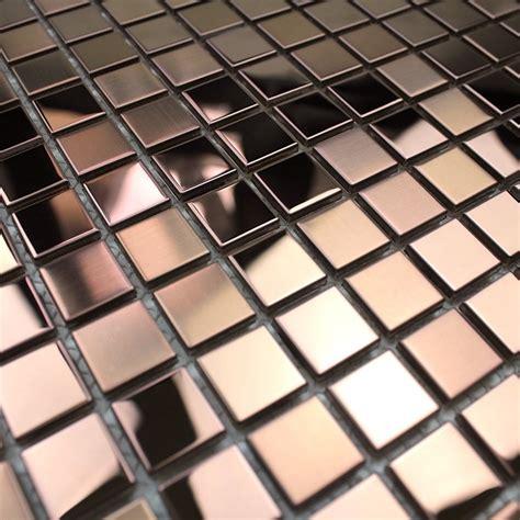 mosaic stainless steel splashback kitchen mosaic shower mixing copper carrelage inox fr