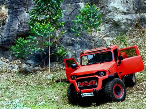 mahindra thar modified this modified mahindra thar goes by the name of archer