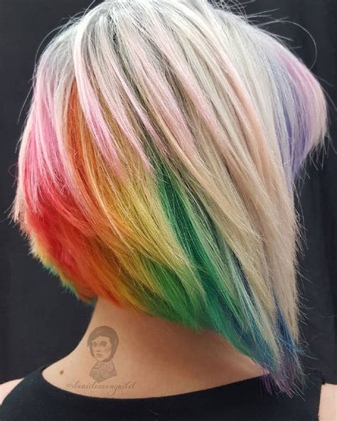 hairstyles with color underneath steel winter rainbow hair colors ideas