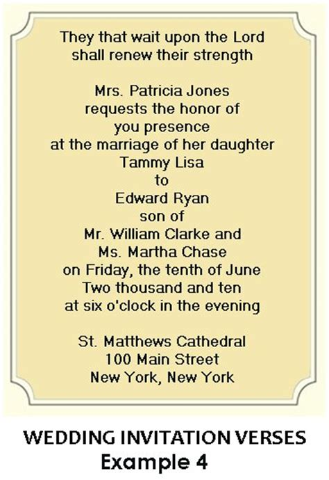 Words For Wedding Invitation Christian Wedding Invitation Wording