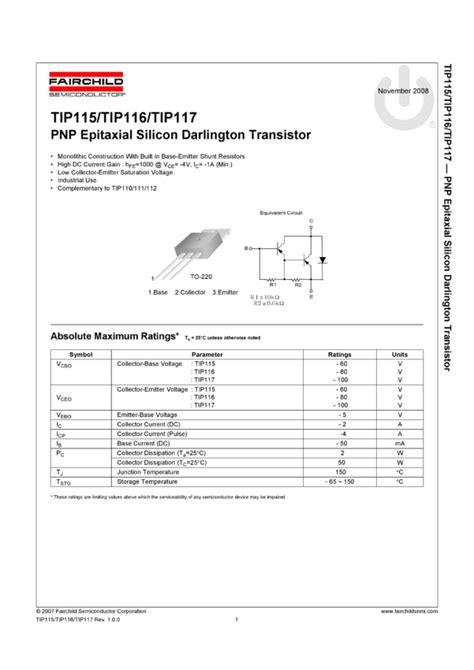 transistor mje340 datasheet pnp epitaxial silicon darlington transistor 187 tip117 datasheet pdf 187 nota katalogowa elecena