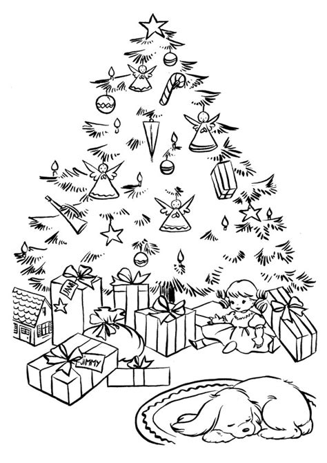 free coloring pages of pine tree