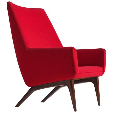red armchairs for sale danish reclining red armchair 1960s for sale at 1stdibs