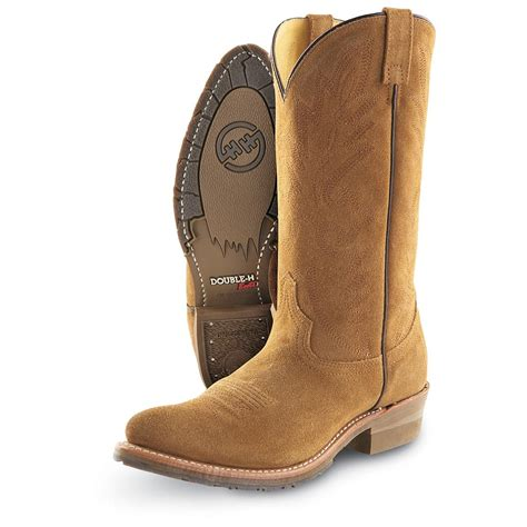 mens suede western boots s roughout westerns by h boots 174 120553