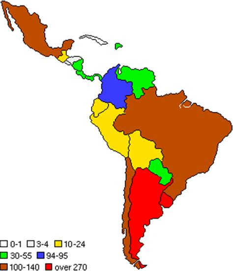 south america density map america
