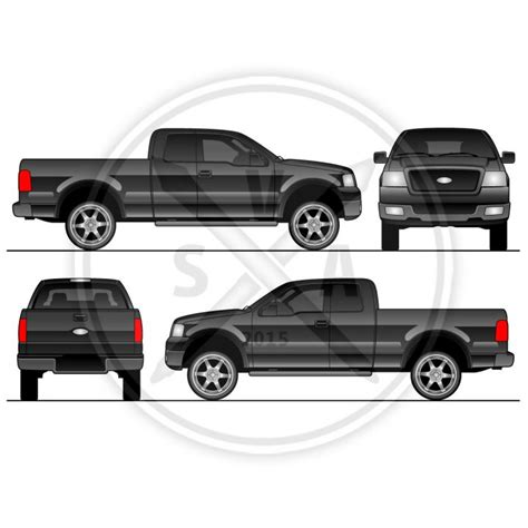 Blank Vehicles Archives Page 3 Of 3 Stock Vector Art Dodge Ram Wrap Template