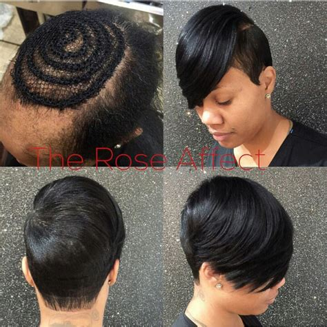 phot gallery short hair sew in crochet styles pinteres