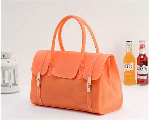 Jelly Bag Orange handbags bags 371b003 shoulder tote dual functions pvc