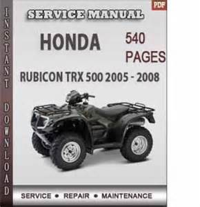 honda rubicon trx 500 2005 2008 factory service repair