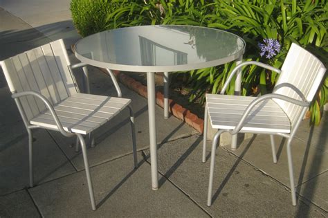 patio table and chairs uhuru furniture collectibles sold patio table and two chairs 65