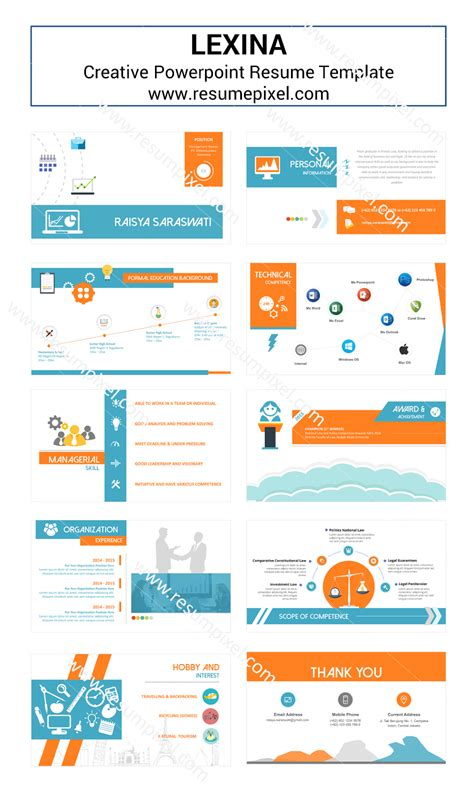 Powerpoint Resume Template by Desain Cv Kreatif Cv Powerpoint