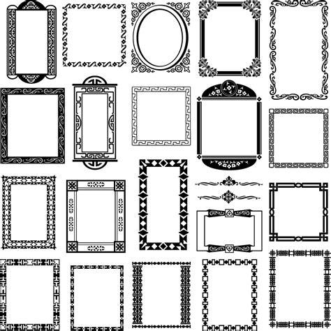 corner pattern vector cdr black and white border corner patterns 01 vector free