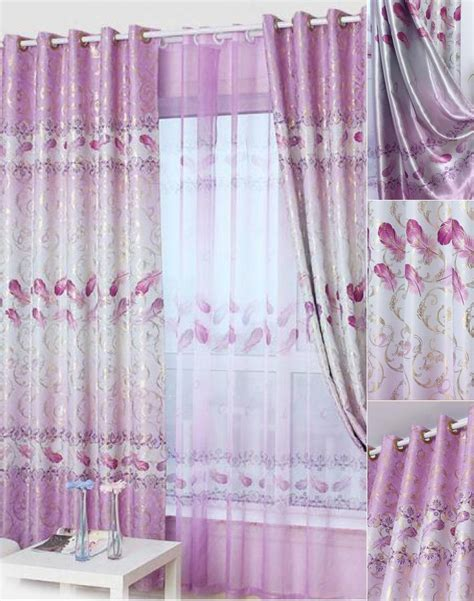 purple print curtains beautiful curtains floral print purple polyester room