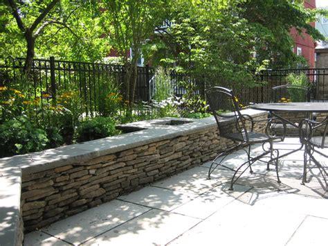 fieldstone seat wall contemporary patio boston by