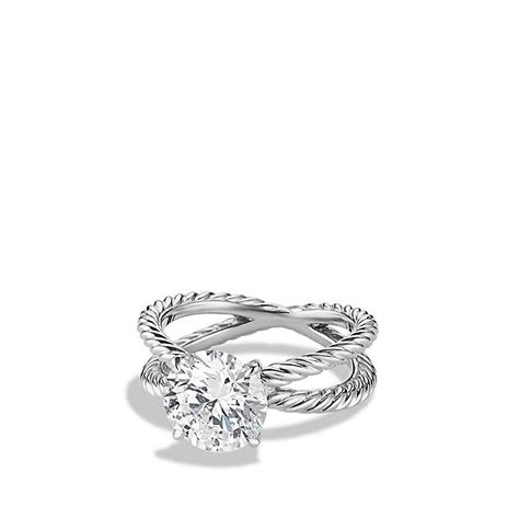 DY Crossover Engagement Ring in Platinum from David Yurman