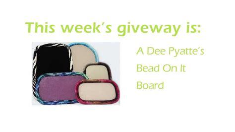 bead on it board bead on it board giveaway winner announced