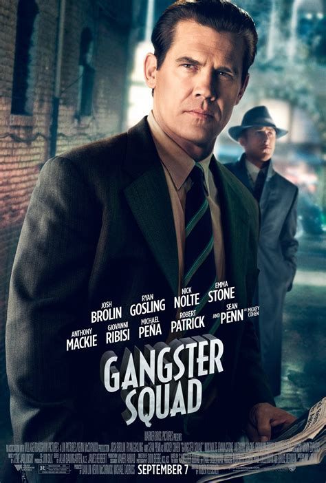 gangster squad film wiki ryan gosling more in five gangster squad posters plus