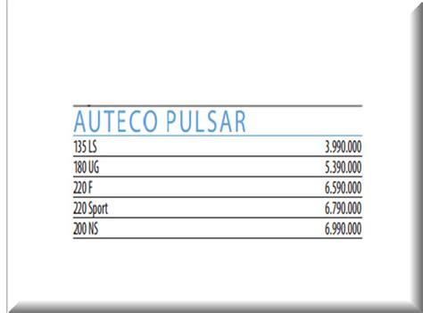 revista motor precios de vehiculos pulsar 220 tci precios revista motor motos nuevas de