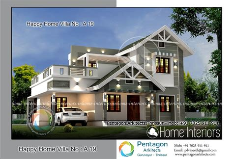 4 bhk villa in 1850 sq ft kerala home design and floor plans 1967 square 4 bhk contemporary happy home villa 19 design