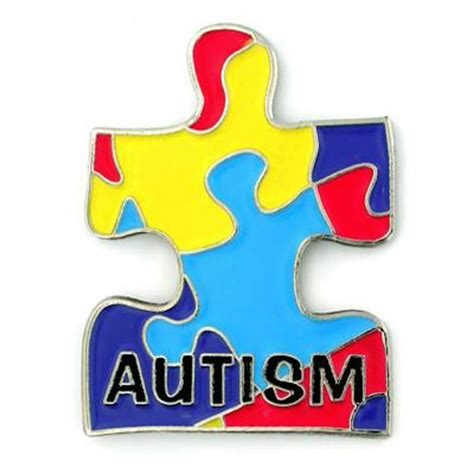 autism awareness multi color puzzle lapel pin ebay
