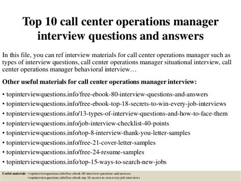 top 10 call center operations manager questions and answers
