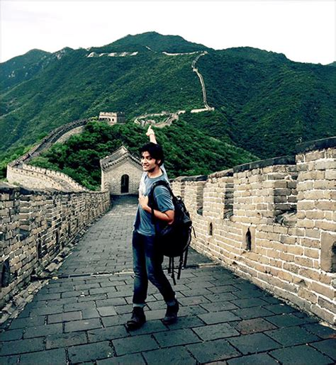film oyes china check out ali fazal at the great wall of china oye times