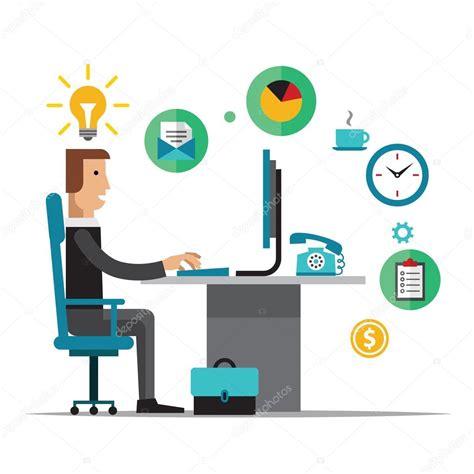 vector plan blue print flat design stock vector flat design vector illustration of office workplace