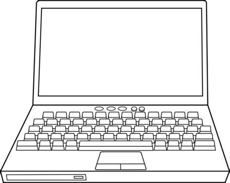 Drawing Laptop by Laptop Computer Line Free Clip