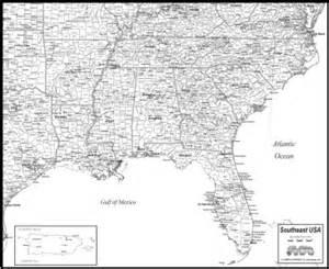 se us map cities southeast usa map to print