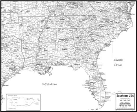 printable southeast us road map download southeast usa map to print