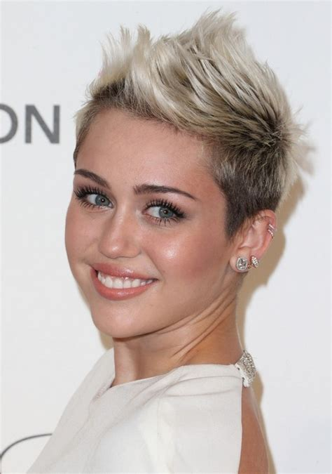 faux hawk hairstyles for women over 40 miley cyrus short hairstyles short faux hawk hairstyle